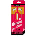 GOLF EARPHONES M2 BAROQUE, SILVER