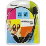 MSONIC STEREO HEADSET MH425, MICROPHONE, BLACK