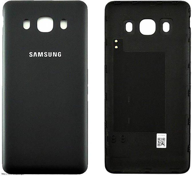 samsung j510 galaxy j5 2016 black battery cover or. Black Bedroom Furniture Sets. Home Design Ideas