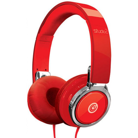 SONIC GEAR HEADPHONES STUDIO 2 WITH MIC RED