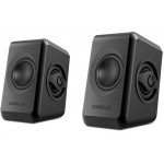 SONIC GEARS USB POWERED QUAD BASS SPEAKERS 2,0 BLACK COOL GREY - (8886411908058)